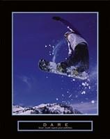 Dare – Snowboarder Fine Art Print