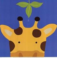 Peek-A-Boo Giraffe Fine Art Print