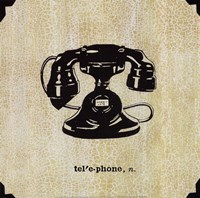 Office Telephone Fine Art Print
