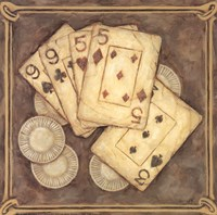 Poker - Nines and Fives Fine Art Print