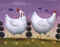Funky Chickens Fine Art Print
