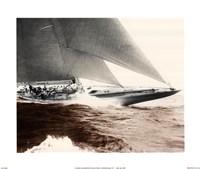 Mariner's Museum - Rainbow's Finish 1934 Vintage Maritime Fine Art Print