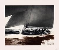Mariner's Museum - Rainbow's Run 1934 Vintage Maritime Fine Art Print