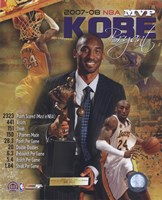 Kobe Bryant 2008 MVP Portrait Plus; LA Lakers Fine Art Print