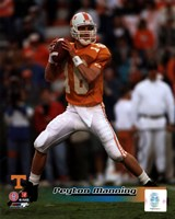 Peyton Manning University of Tennessee Volunteers Action Fine Art Print