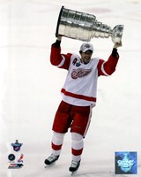 Pavel Datsyuk with the Stanley Cup, Game 6 of the 2008 NHL Stanley Cup Finals; #29 Fine Art Print