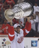Brian Rafalski with the Stanley Cup, Game 6 of the 2008 NHL Stanley Cup Finals; #32 Fine Art Print