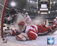 Chris Osgood in Game 6 of the 2008 NHL Stanley Cup Finals; Action #25 Framed Print