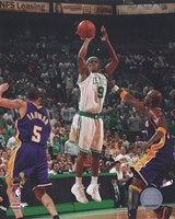 Rajon Rondo, Game 1 of the 2008 NBA Finals; Action #3 Fine Art Print