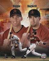 Craig Biggio and Jeff Bagwell Portrait Plus, 1999 Framed Print