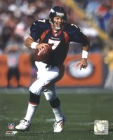 John Elway Rolling Out, Action Fine Art Print