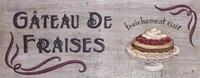 Gateau de Fraises Fine Art Print