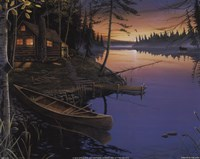 Canoe at the Cabin Fine Art Print