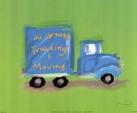 All Around Trucking Fine Art Print