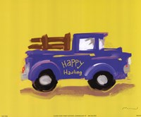 Happy Hauling Framed Print