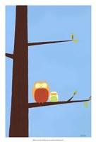 Tree-top Owls I Fine Art Print