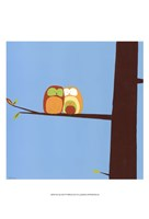 Tree-top Owls IV Framed Print
