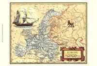 Europe Map Fine Art Print