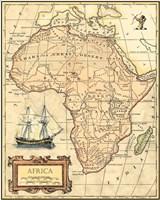 Africa Map Fine Art Print