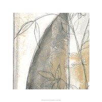 Neutral Garden Abstract III Framed Print