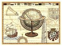 Nautical Map II Fine Art Print