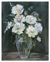Silver Flowers Fine Art Print