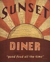 Sunset Diner Fine Art Print