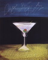 Dry Martini with Olive Framed Print