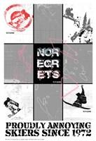 NO REGRETS - SNOW BOARDER Fine Art Print