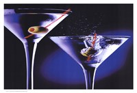 MARTINIS WITH OLIVES Fine Art Print