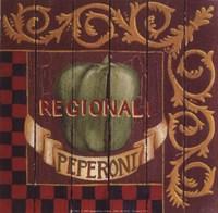 Peperoni Regionali Framed Print