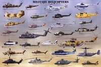 Military Helicopters Framed Print