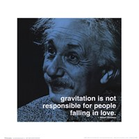 Albert Einstein - iPhilosophy - Gravitation Wall Poster
