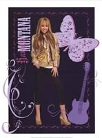 Hannah Montana: Golden Glamour Girl Framed Print