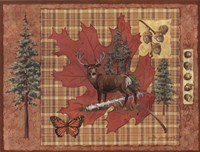 Deer Leaf Framed Print
