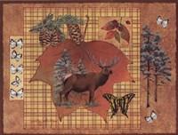 Elk Leaf Framed Print