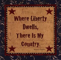 Where Liberty Dwells Fine Art Print