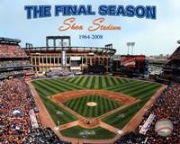 2008 Shea Stadium Final Season With Overlay Fine Art Print