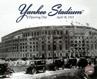 Yankee Stadium 1923 Opening Day With Overlay Framed Print