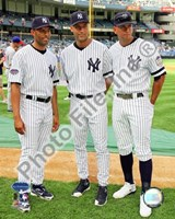 Mariano Rivera, Derek Jeter, and Alex Rodriguez 2008 MLB All-Star Game Framed Print