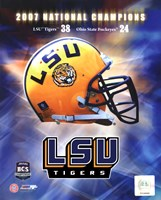 LSU BCS National Champs logo photo Fine Art Print