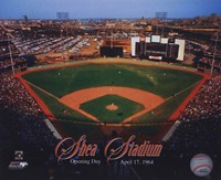 Opening Day of Shea Stadium April 17, 1964 With Overlay Fine Art Print