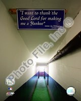 Yankee Stadium dugout Tunnel Final Game September 21, 2008 Fine Art Print