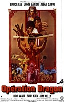 Enter the Dragon Nunchucks Framed Print