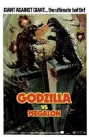 Godzilla vs Megalon Framed Print