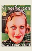 Joan Crawford - Green Silver Screen Fine Art Print