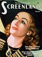 Joan Crawford - Screenland Framed Print