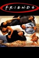 Friends (TV) Lying on Bed Fine Art Print