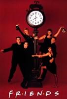 Friends (TV) Clock Red Fine Art Print