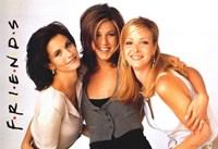 Friends (TV) Monica Rachel & Phoebe Fine Art Print